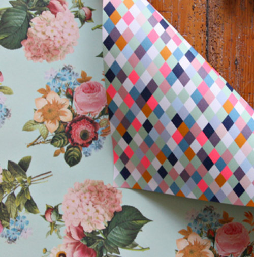 Simply Gifted:  Wrapping paper from Bespoke Letterpress.