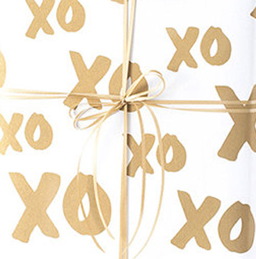 Simply Gifted:  Wrapping paper from la La Grace Paper.