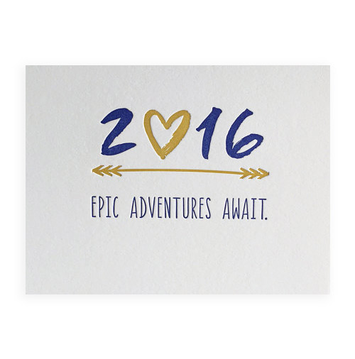 Simply Gifted:  Happy New Year card by DeLuce Design Letterpress.