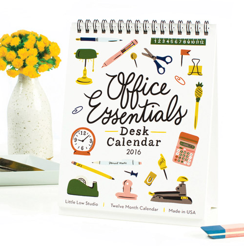Simply Gifted:  Desk Calendar by Pink Olive.