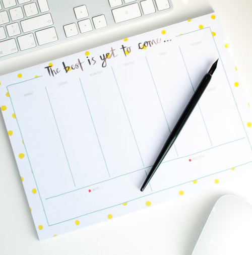 Simply Gifted:  Desk Calendar by Betty Etiquette.