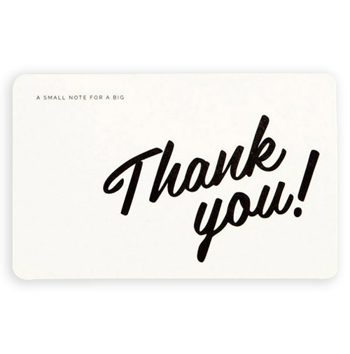 Simply Gifted:  Thank You Postcard set by The Weekend Press Shop.