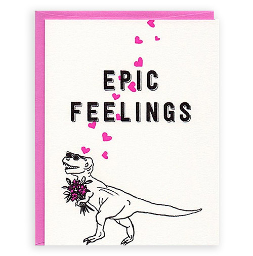 Valentine's Day card by Crumple + Toss.
