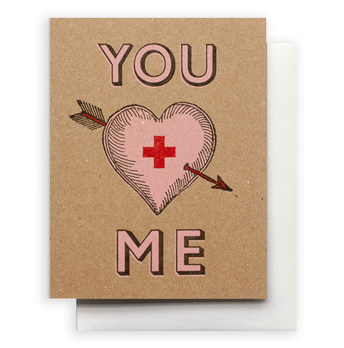 Valentine's Day card by Hammerpress Studio.