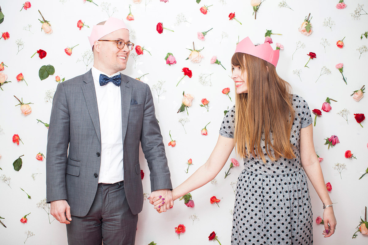 Chris and I at the Valentine's Day Photo Booth.