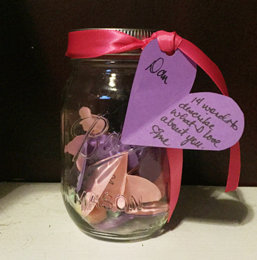Celeste's take on the jar gift. Photo by her.