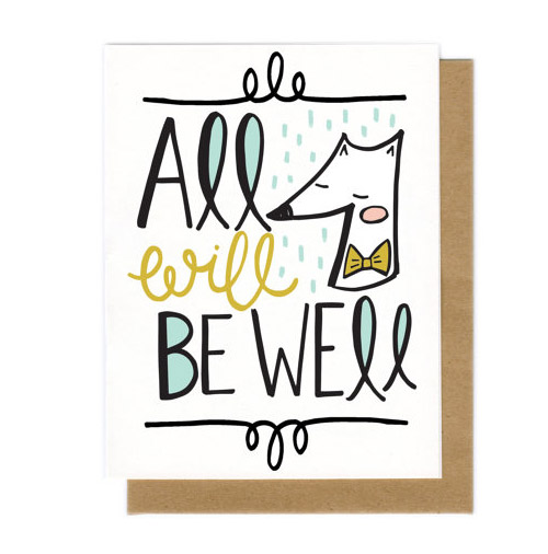 Get Well Soon card by Holly Anderson Design.