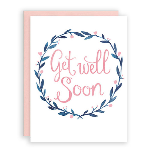 Get Well Soon card by Leveret Paperie.