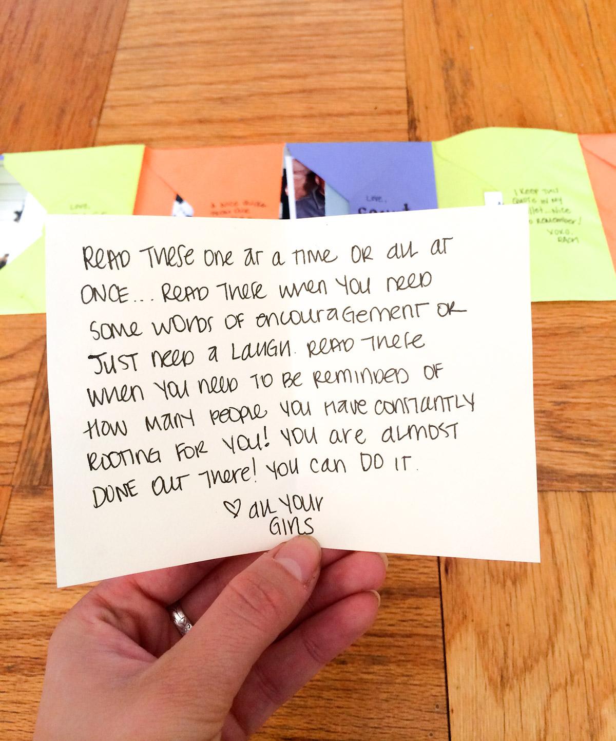Letters of Encouragement.