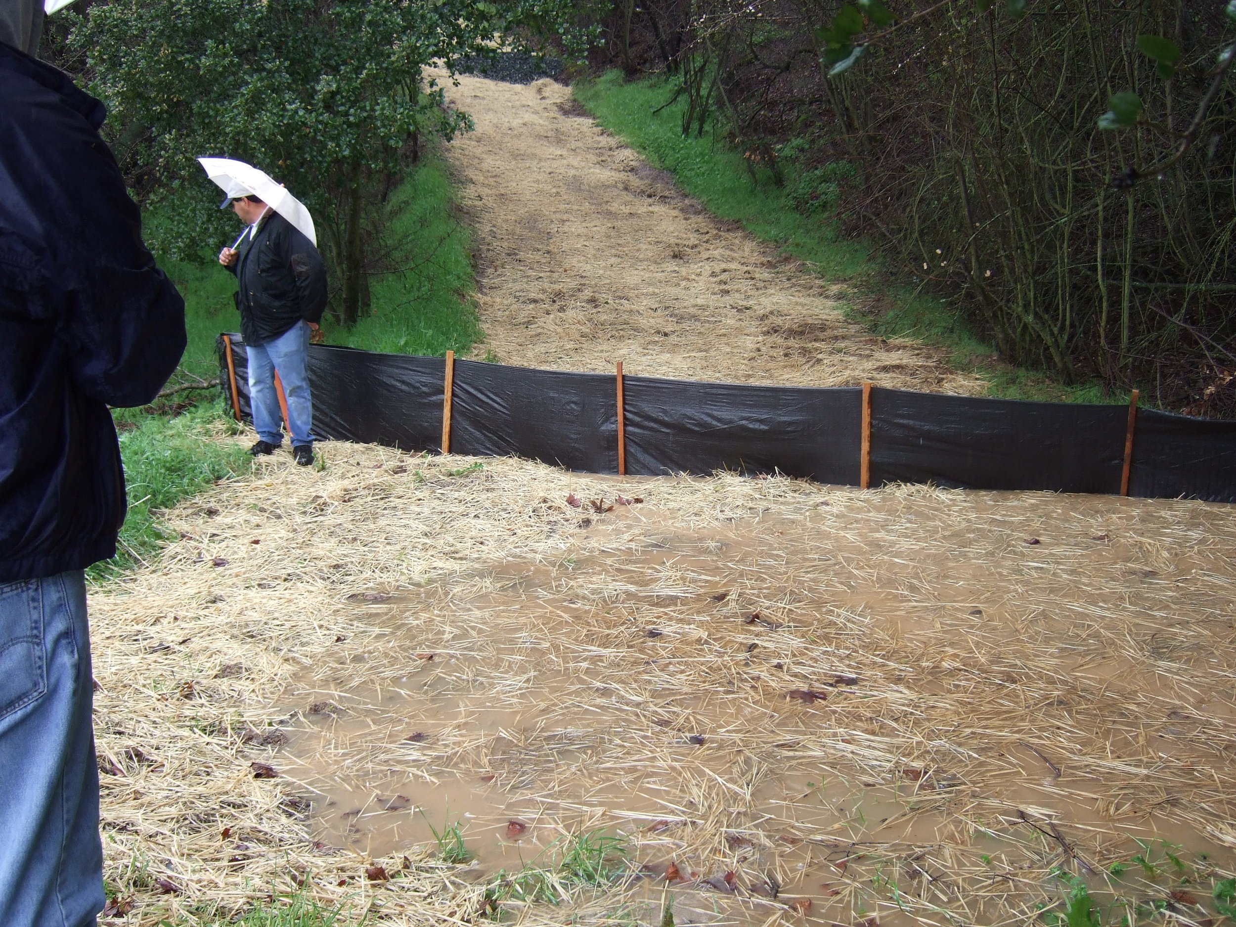 Christmas Hill Park Silt Fencing