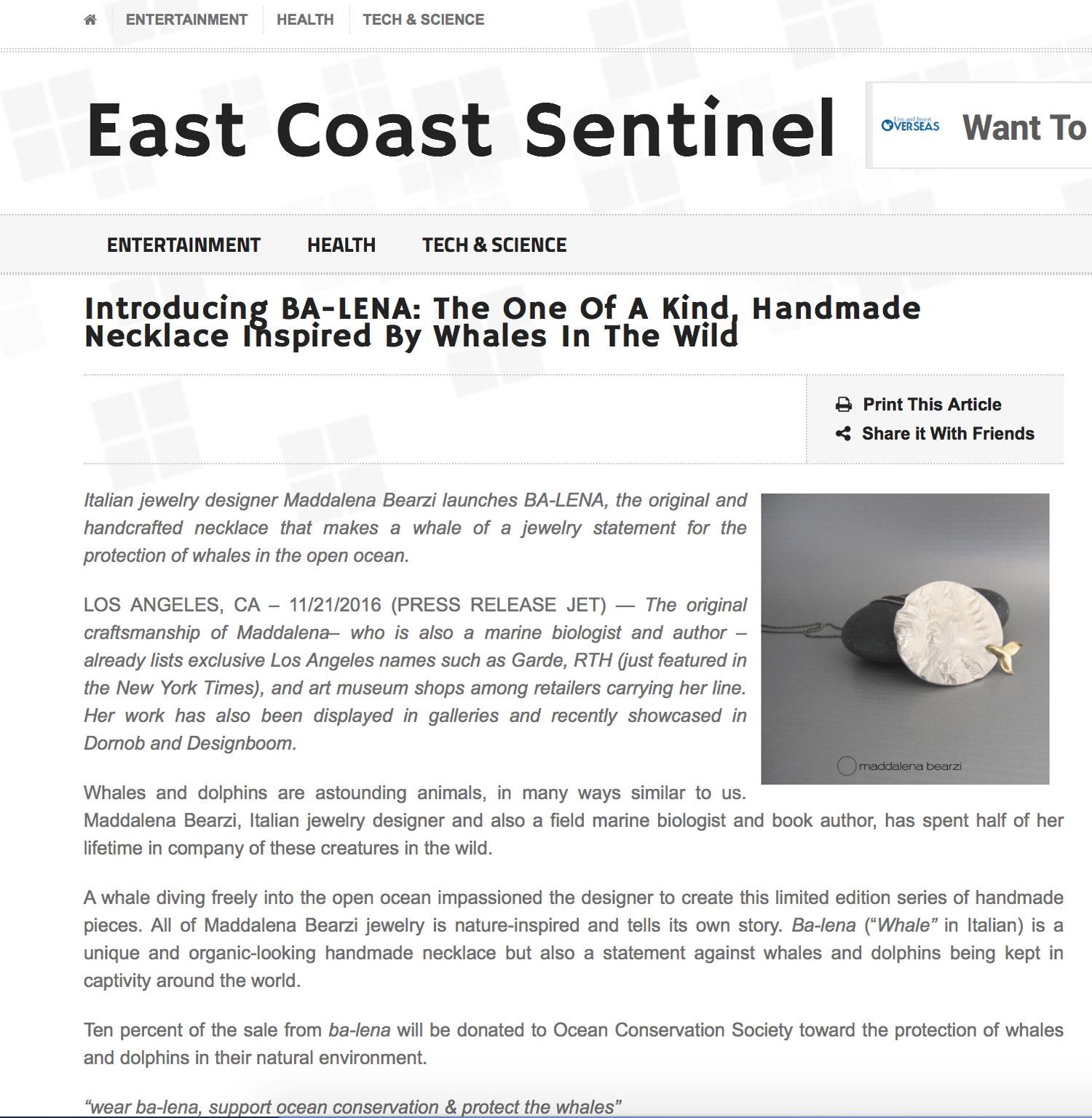 East Coast Sentinel
