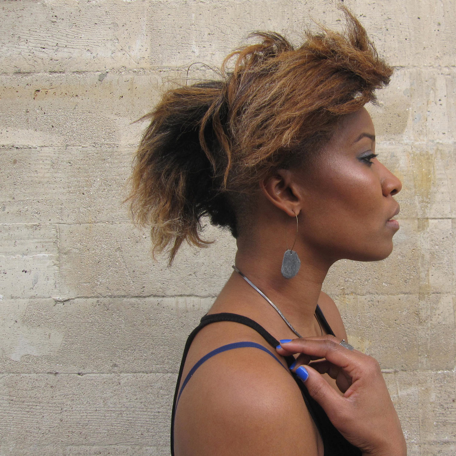 areali necklace + sasso patagonico earrings + relitto organico ring