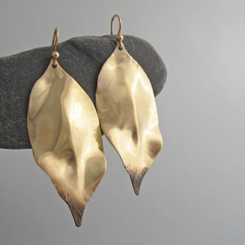 foglia appassita earrings