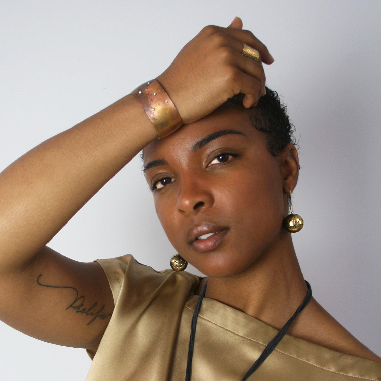 terra cuff + occhio composto earrings