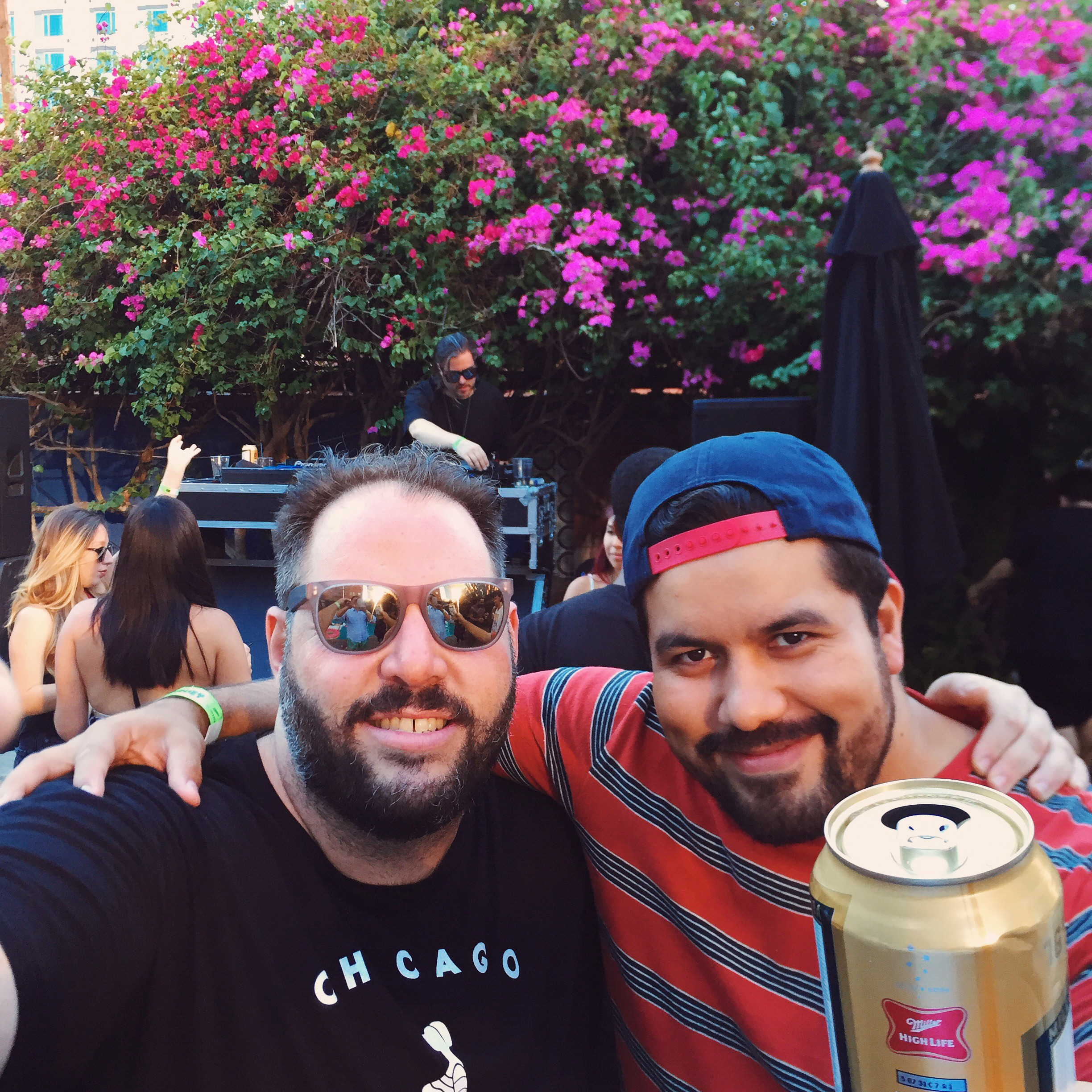 Thee Mike B at the Wavey pool party at Hotel Figueroa.