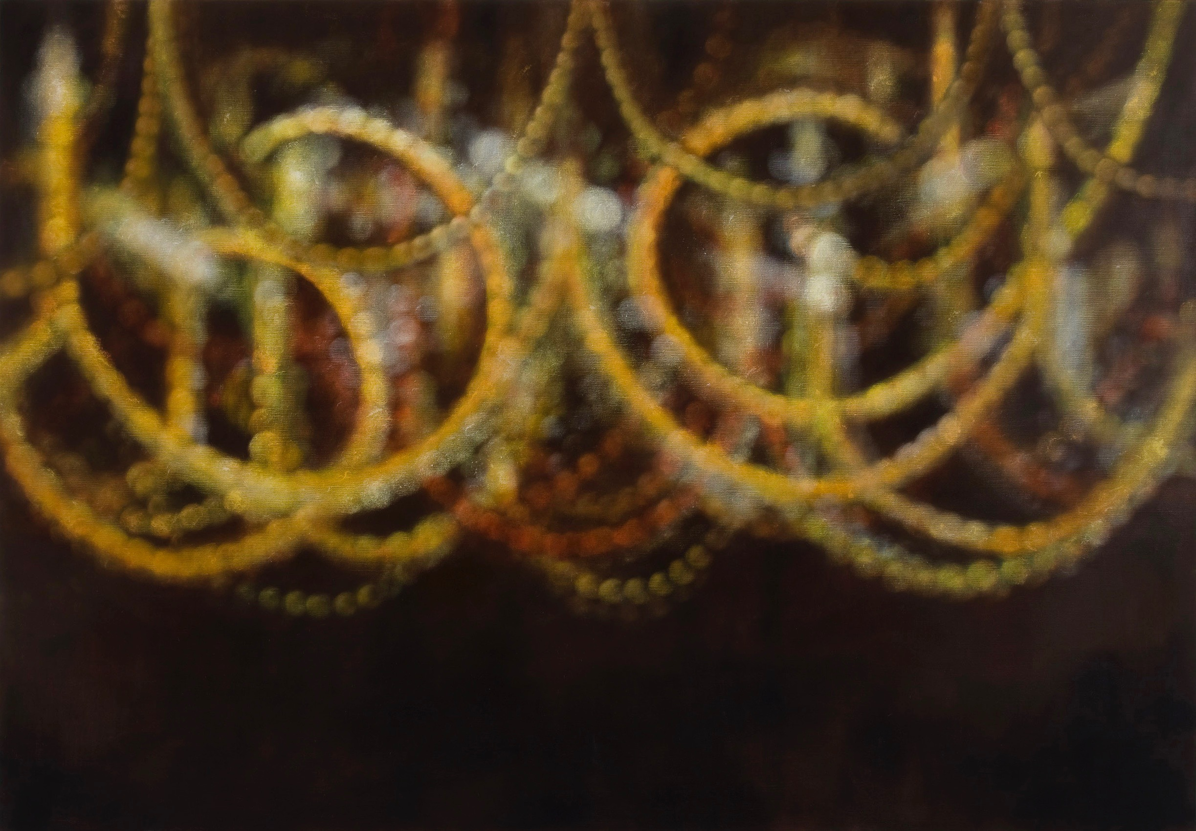 Lustre d'oscillation, 2008, oil on linen, 138x200cm