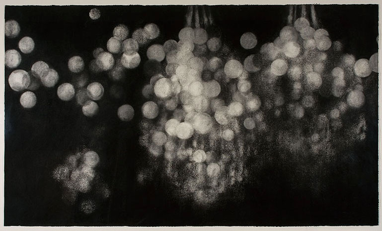 Illumination, 2008, charcoal on paper, 149x233cm