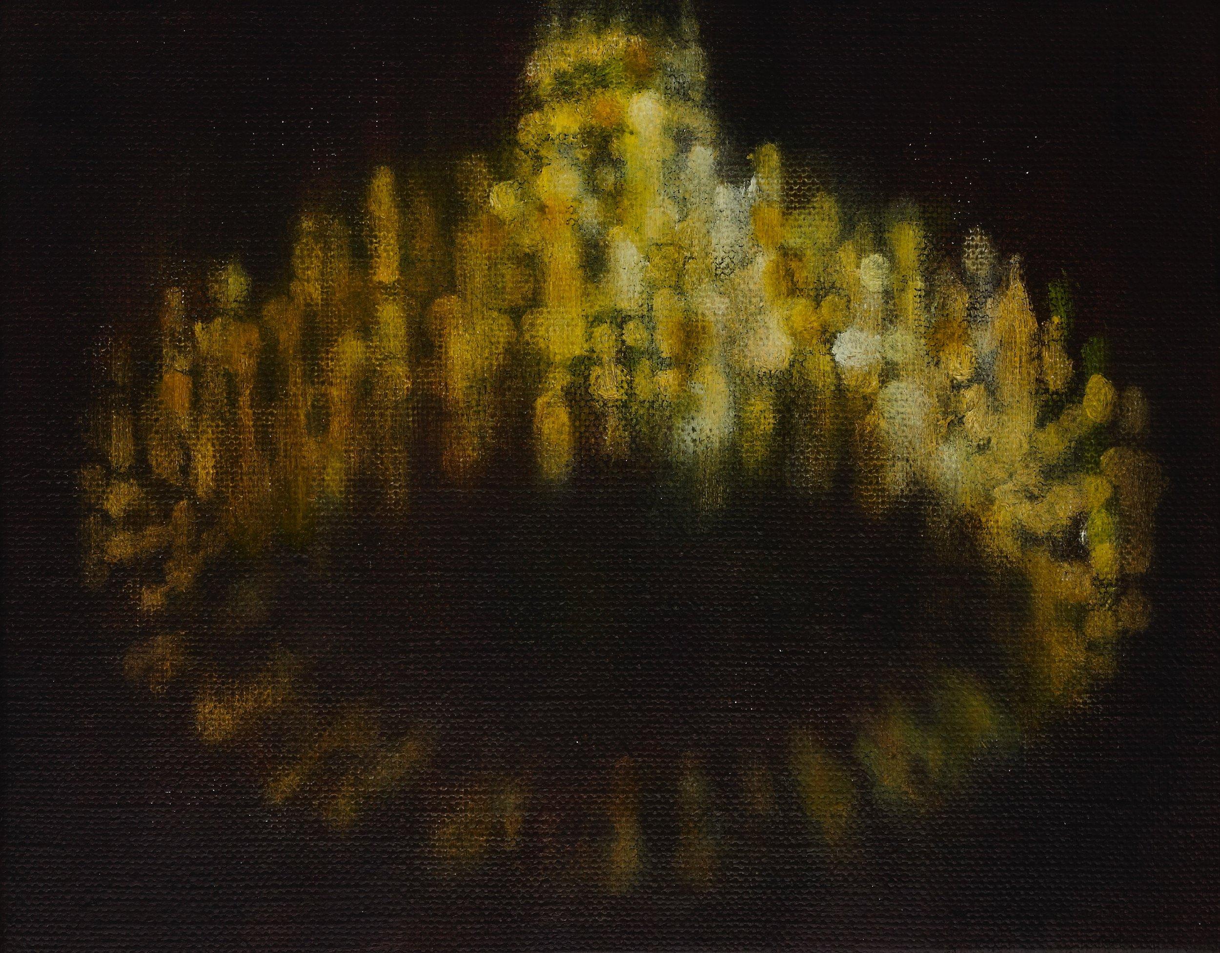 Chandelier, 2010, oil on canvas, 14x18cm