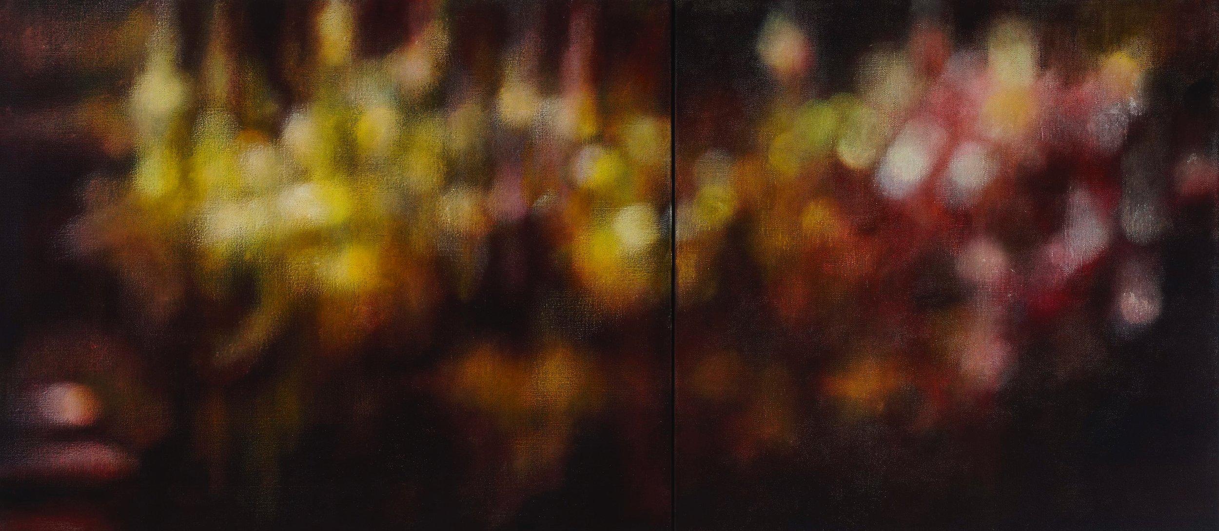 Venetian lights, 2012, oil on canvas, 61x137cm