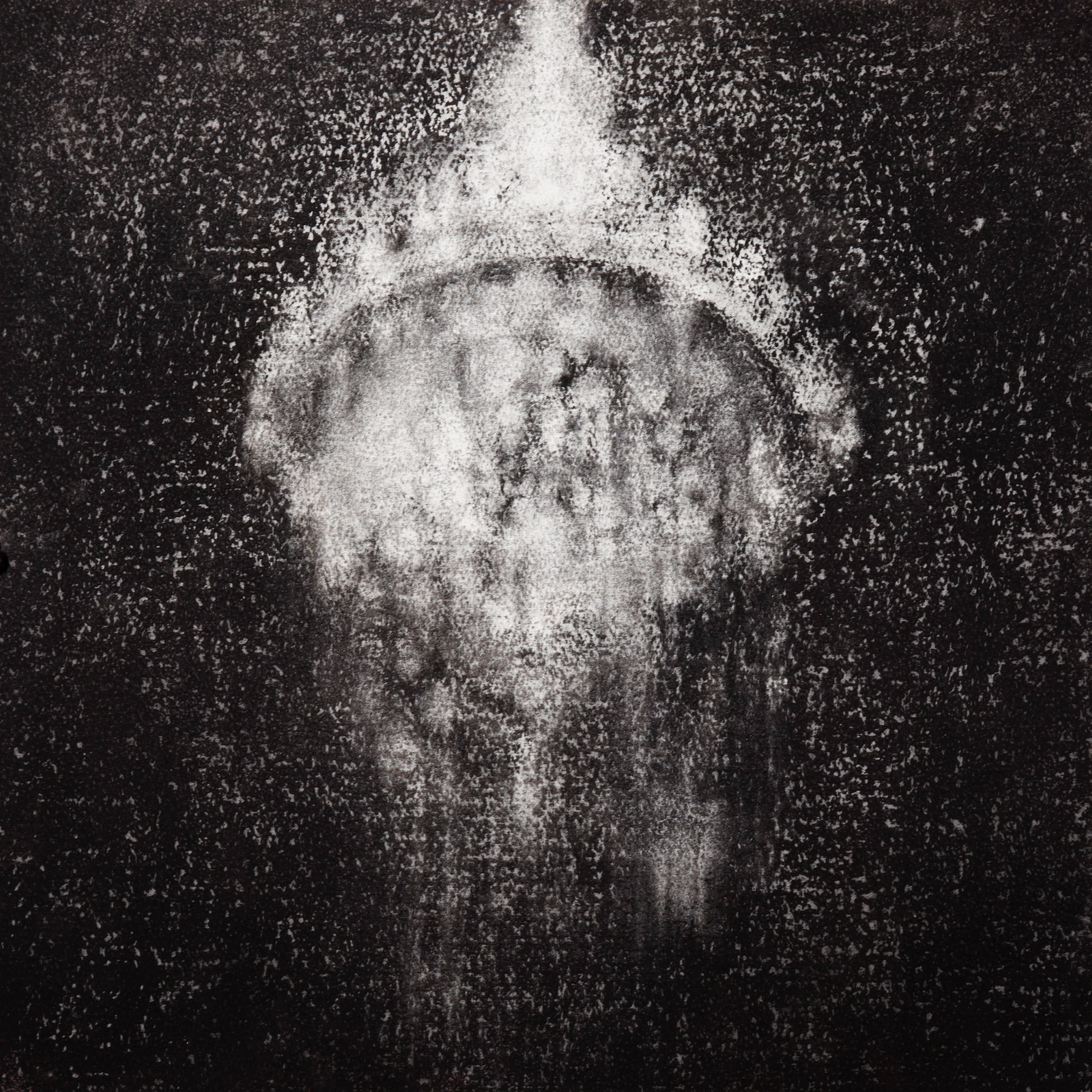 Chandelier, 2009, charcoal on paper, 40.5x 40.5cm