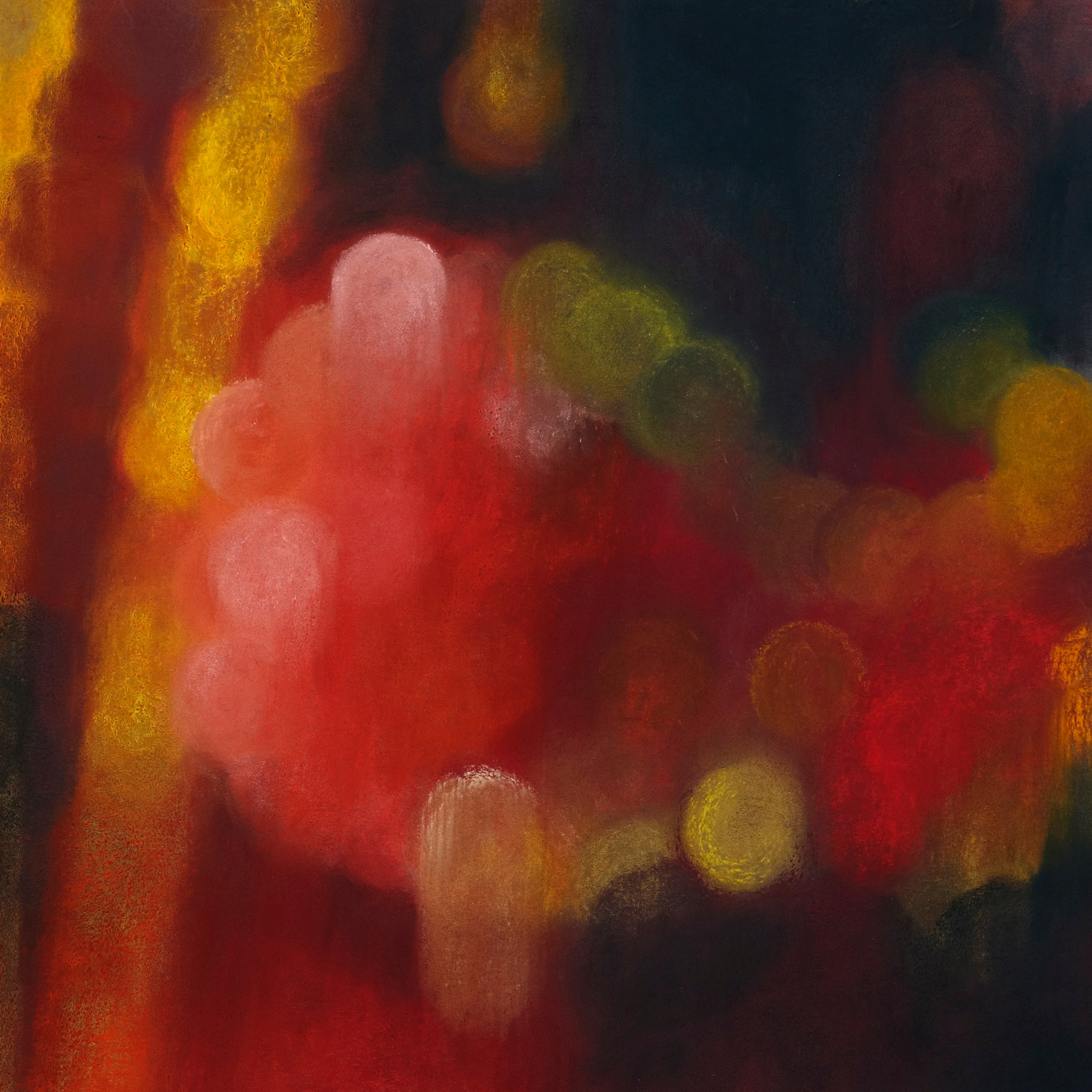 Shanghai glow, 2009, pastel on paper, 40.5x 40.5cm