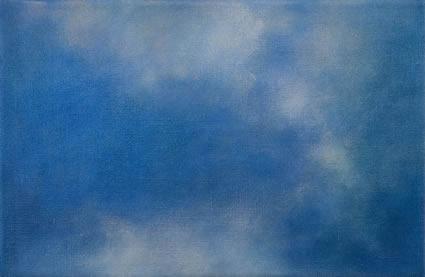 Etude de nuage – le bleu, 2006/07, oil on linen, 31 x 47cm