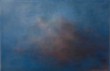 Etude de nuage – le bleu et le rose, 2006/07, oil on linen, 31 x 47cm