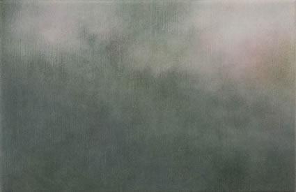 Etude de nuage – le vert et le rose, 2006/07, oil on linen, 31 x 47cm