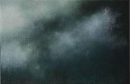 Etude de nuage – le vert foncé, 2006/07, oil on linen, 31 x 47cm