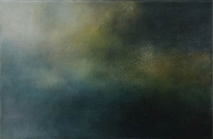 Etude de nuage – le vert, 2006/07, oil on linen, 31 x 47cm