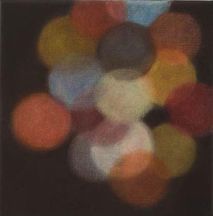 La Lumiere Artificielle - la lampe rouge, 2006-2007, oil on linen, 31x31cm