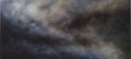 The Clouds of Unknowning (les nuages de l'inconnu), 2006-2007, oil on linen, 92x200cm