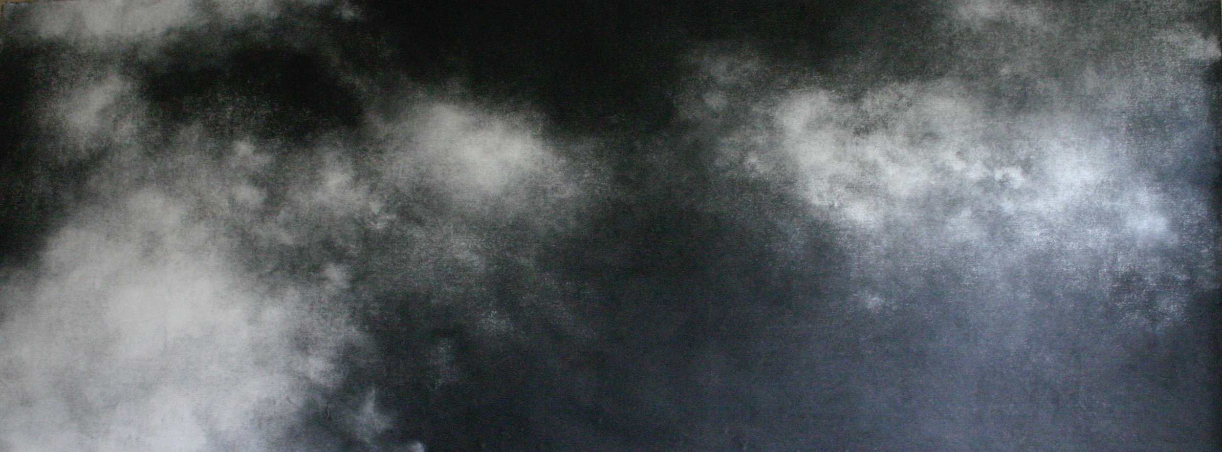 Journey on, 2006 charcoal on paper 100x280cm