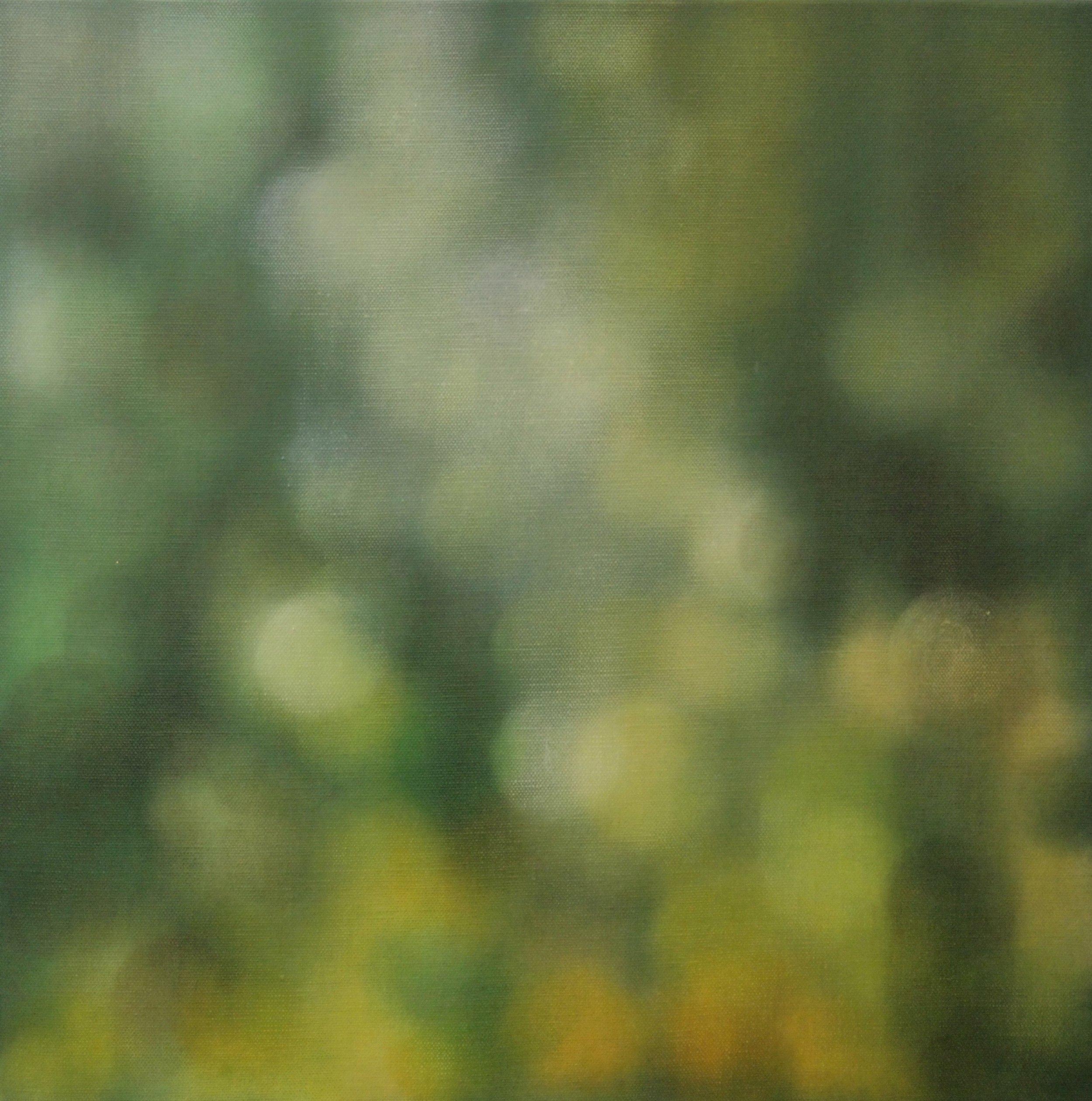 Descending green light, 2010, oil on canvas, 61x61cm