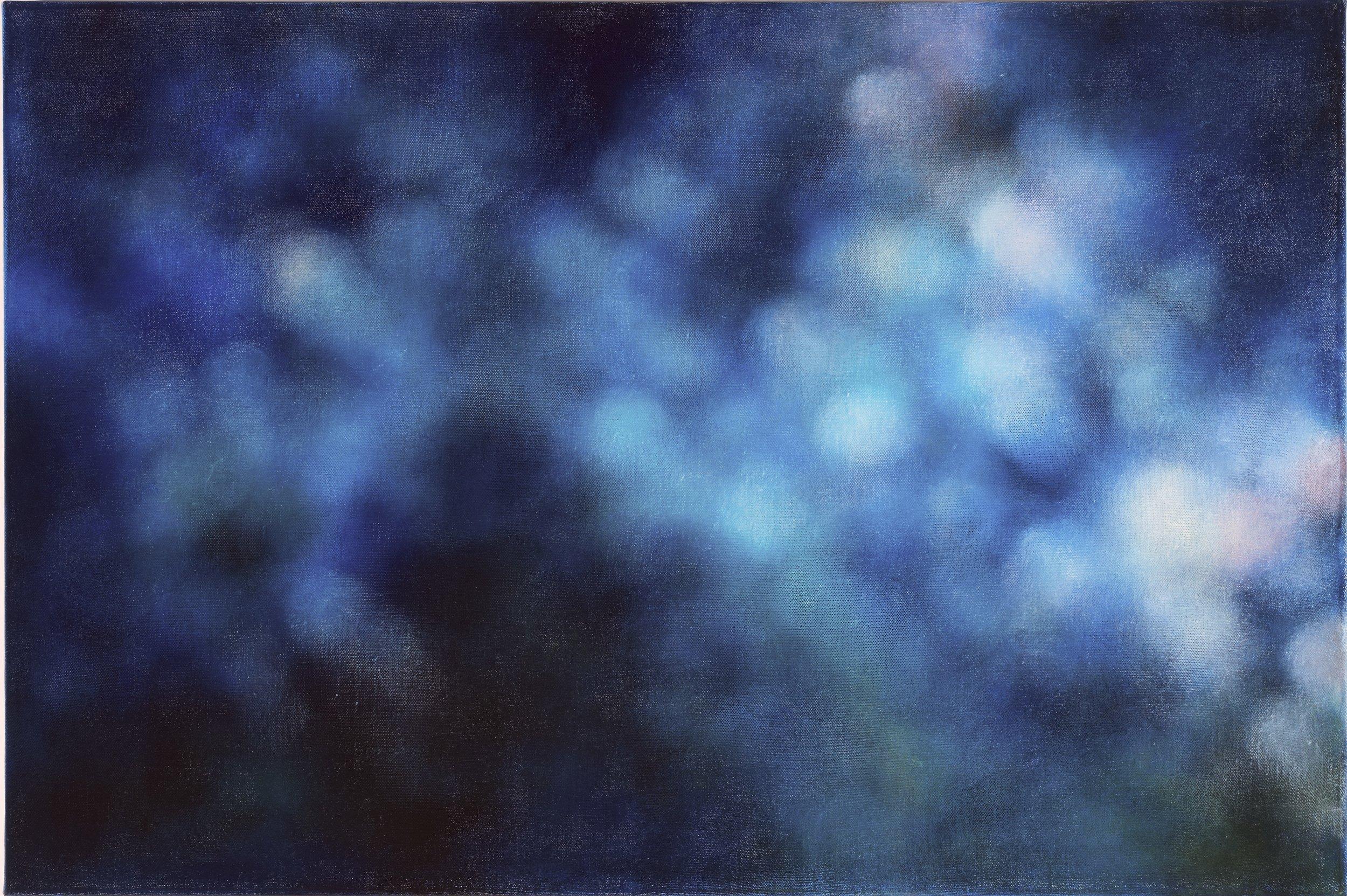 Abstract blue light, 2010, oil on canvas, 92x61cm