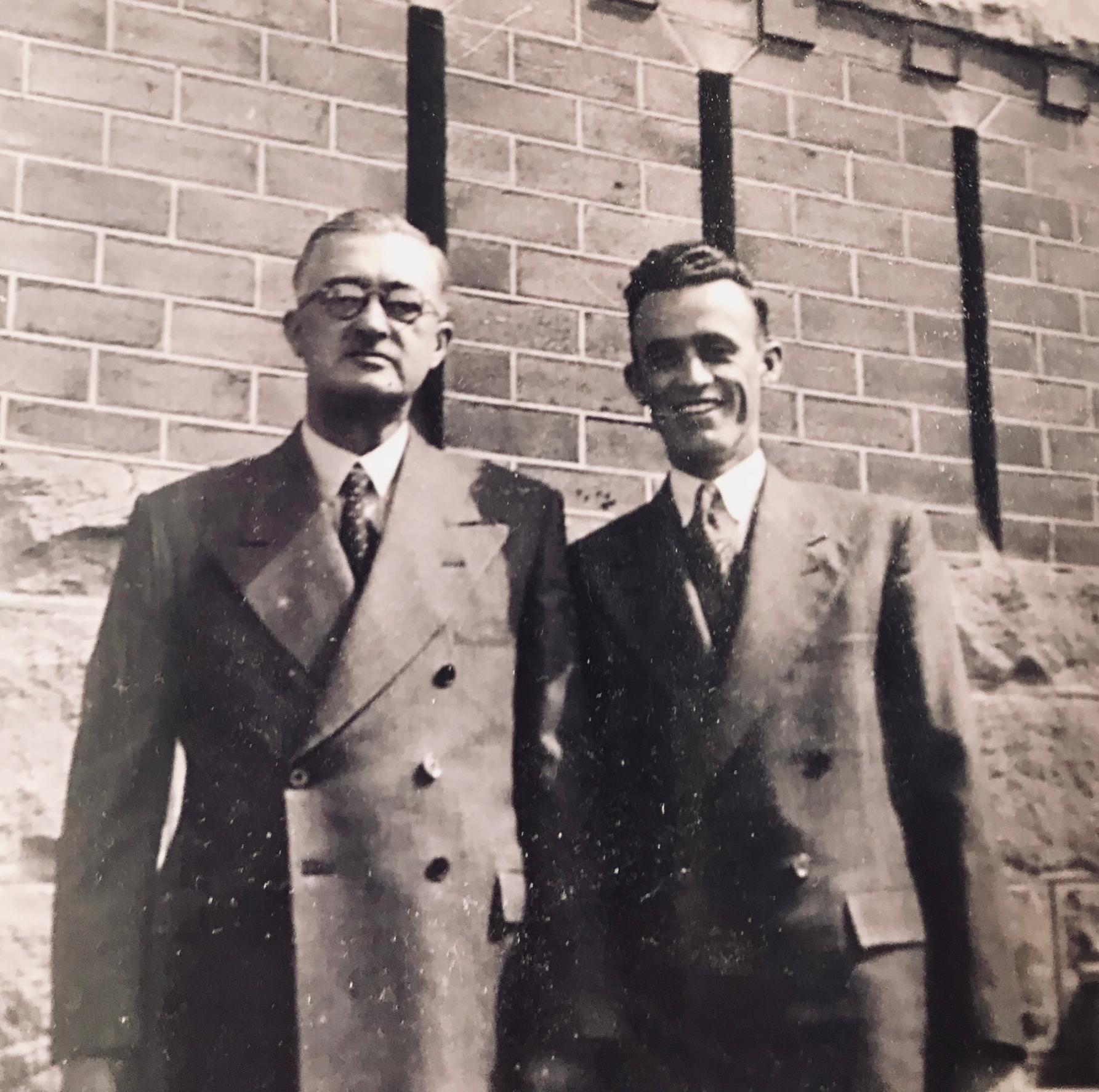 My father James and my brother James, photo taken at my wedding to Beth in 1944