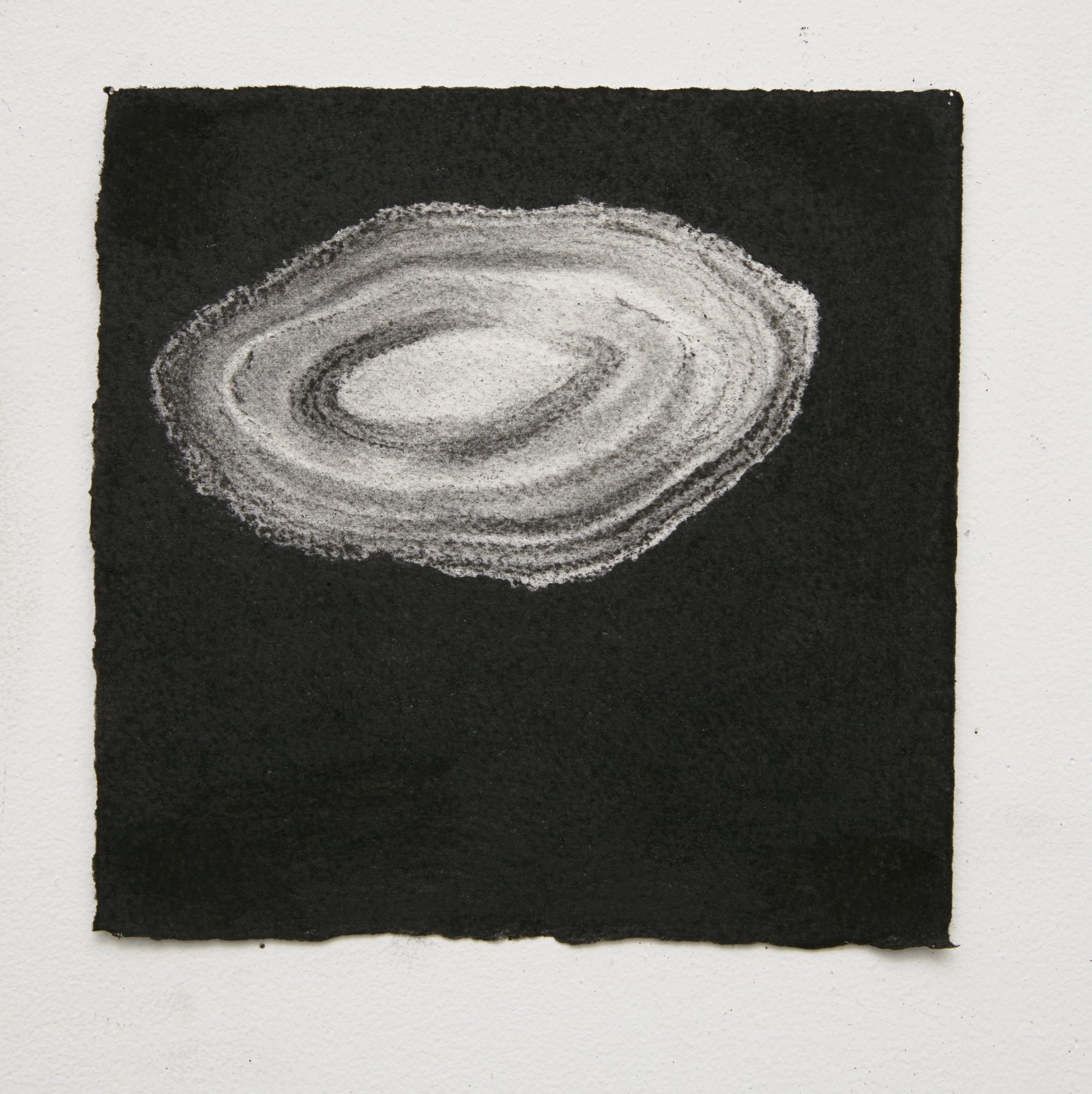 Gemstone #3, 2015, 17.5x17.5cm, charcoal on paper