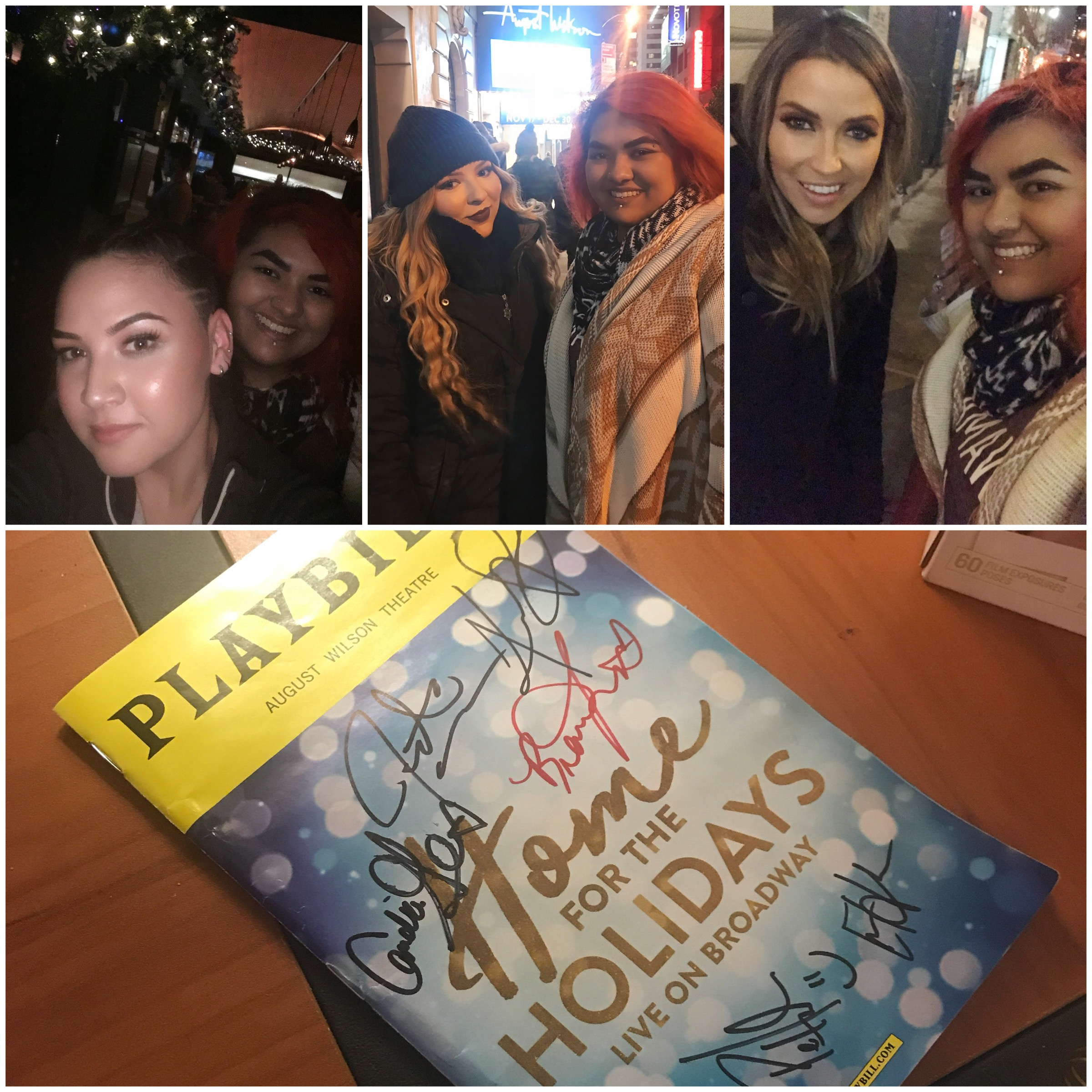 Danica, Bianca, Kaitlyn and I + a signed Playbill! :)