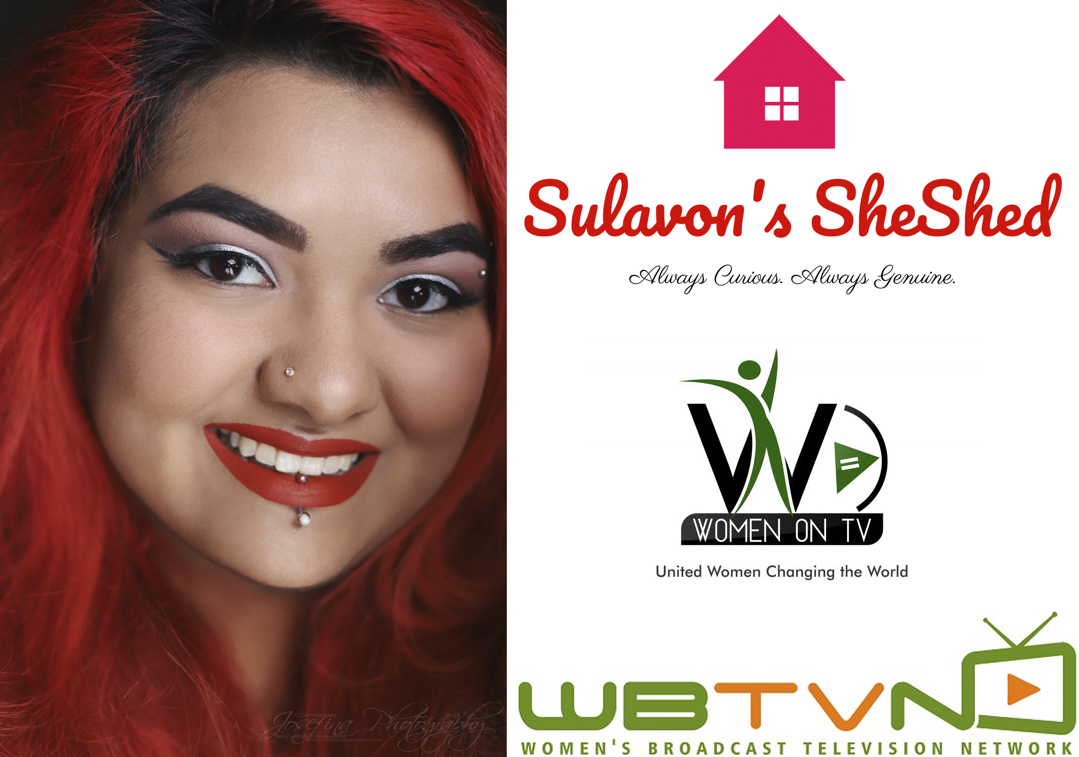 The Interview. - Sulavon's SheShed on the Women's Broadcast Television Network.Here, Josefina talks about what it's been like as a female photographer in a very male-dominated industry, where/how she got her start, who inspires her, what irks her THE MOST about social media, and what it's been like developing a business in this technology-filled era!