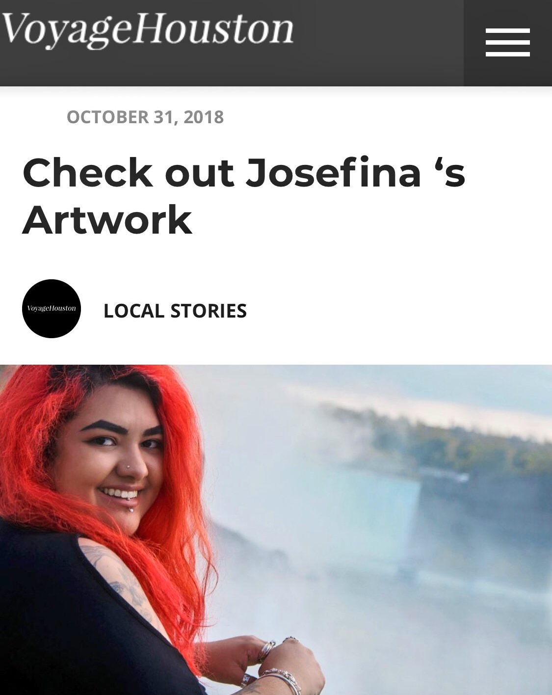 """Voyage Houston Interview. - Here, Josefina talks about what it's been like to be a photographer for the past decade, why social media has its cons, and what she thinks """"success"""" means."""