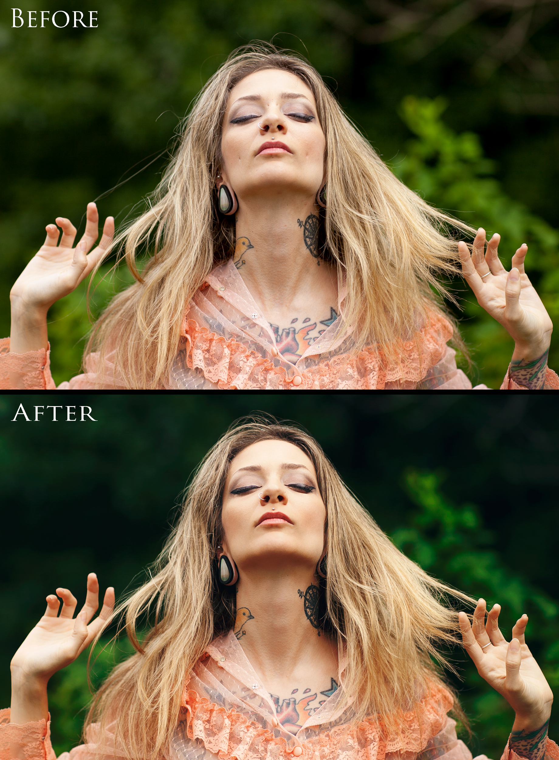 """Before & After of """"Peace"""" 