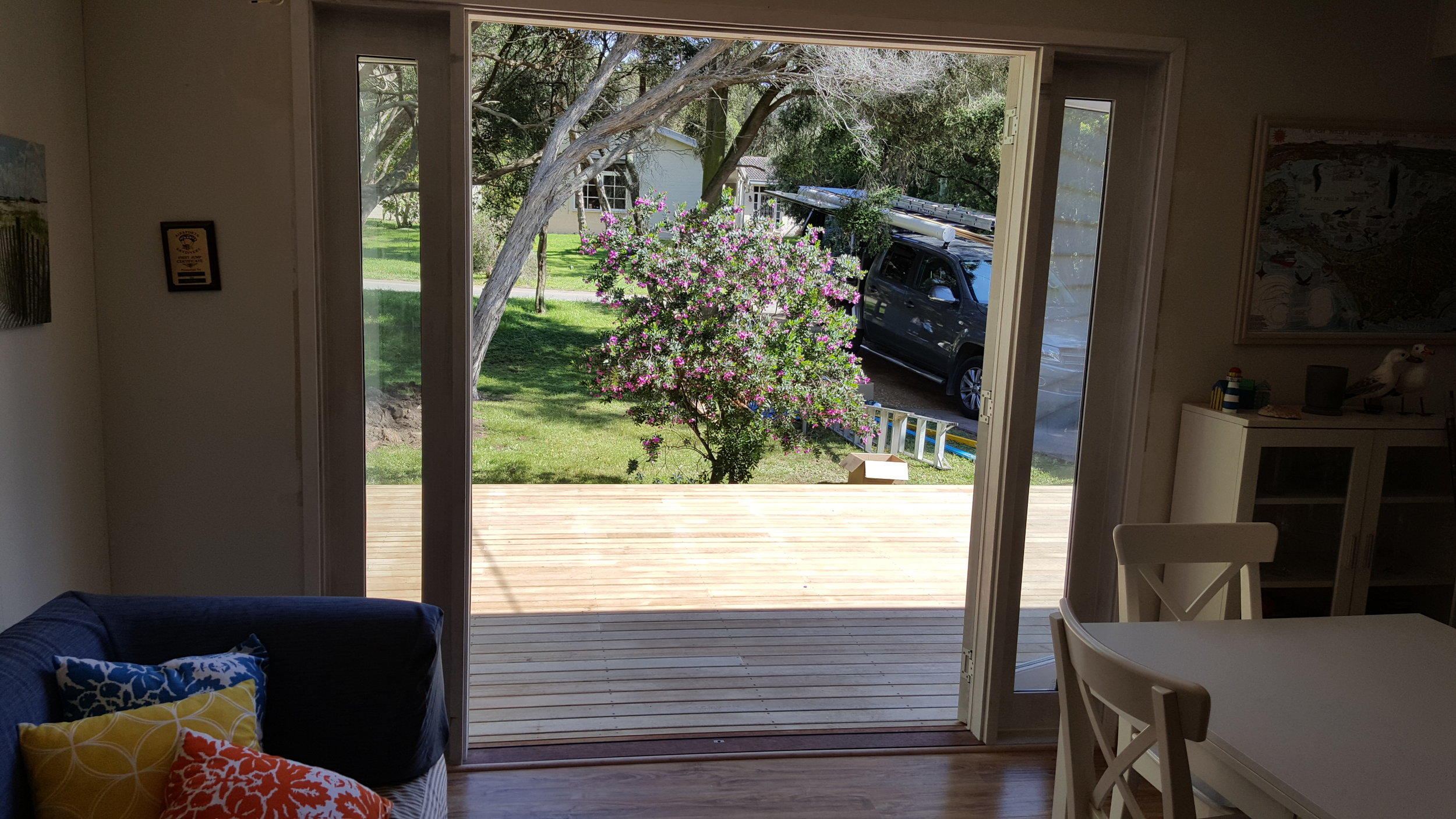 French Doors to the deck