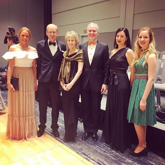 The Austrian Consulate together with Stanford's president Marc Tessier-Lavigne and his wife at the 42nd Stanford Viennese Ball #AllesWalzer #stanford #vienneseball #dance #consulate #openaustria #diplomacy