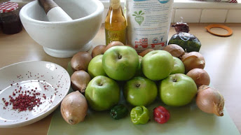 Apple & Pepper Chutney ingredients