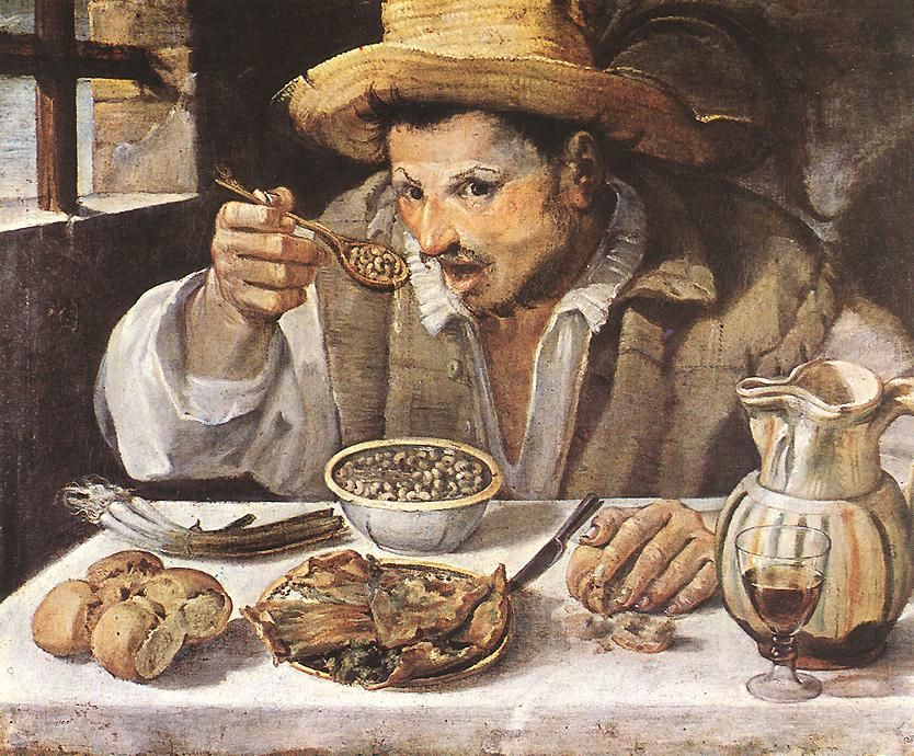 The Beaneater by Annibale Carracci c.1580-1590