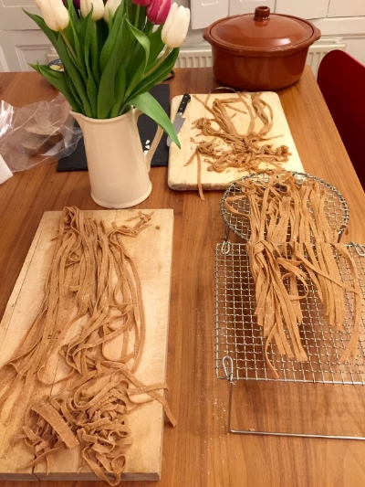 from pasta sheets to tagliatelle