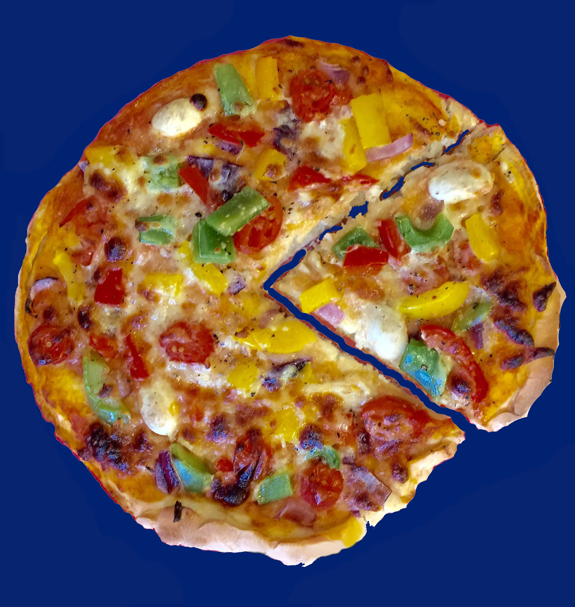 pac-man pizza