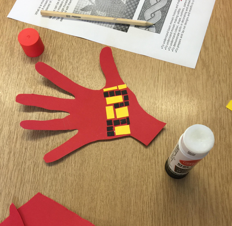 Week 1 - making hand mosaic