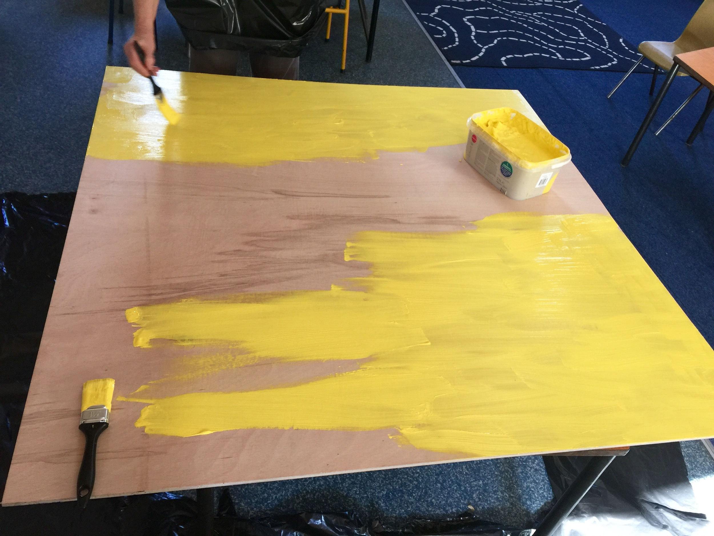 Week 2 - painting the mdf board