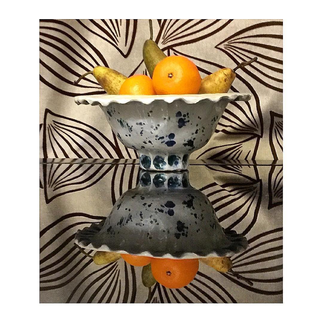 Wonky Bowl I made with fruit
